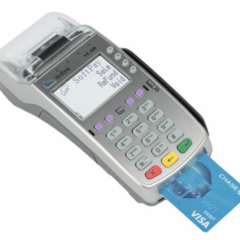 compact merchant terminal used to process credit cards Card Connect Paradise Clover Merchant Services Charge It Now